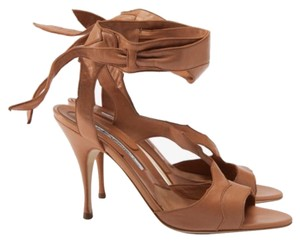 Brian Atwood Nude Tan Sandals