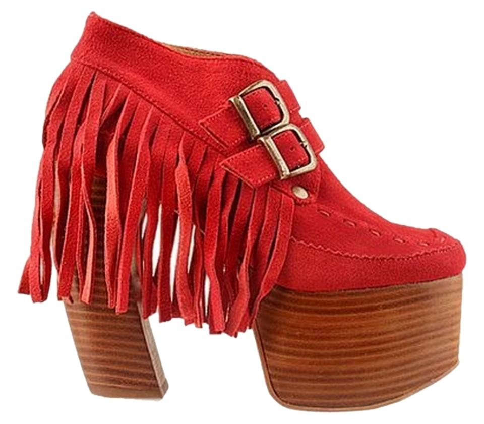 woman Jeffrey Campbell Red-orange Represent Boots/Booties Highly praised and of appreciated by the audience of and consumers 606b80