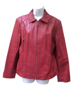 Adler Collection Leather Dressy Red Leather Jacket