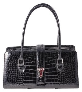 Manolo Blahnik Manolo Alligator Shoulder Bag