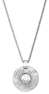 Chopard Chopard 18K White Gold Happy Diamond Necklace 797759