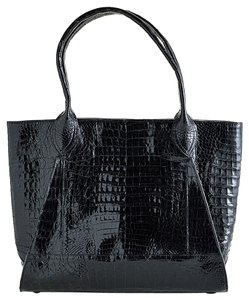 Nancy Gonzalez Crocodile Tote in Black