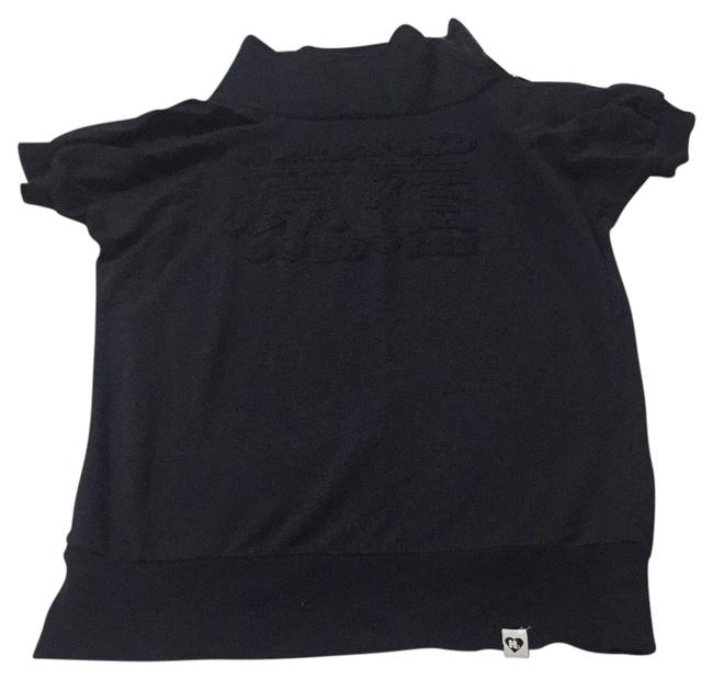 Item - Black Short Sleeve Pull Over Activewear Size 4 (S)