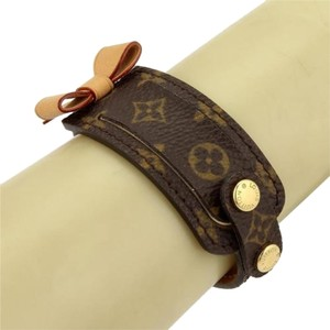 Louis Vuitton Louis Vuitton Paris Monogram Wide Leather Bracelet