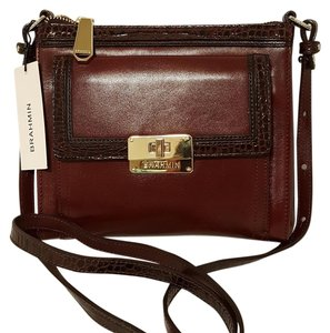 Brahmin Built In Wallet Leather Abby Cross Body Bag