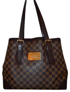 Louis Vuitton Damier Canvas Tote in Brown and Tan