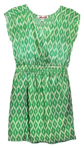 Francesca's short dress Green print Bright Wedding Cocktail Party Church on Tradesy