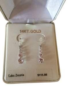 Other 14 k white gold cubic Zirconium Earrings