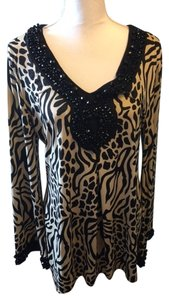 INC International Concepts Beaded Top Black/Beige