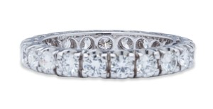 Eternity Diamond Wedding Band 18k White Gold 2.48ct