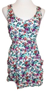Forever 21 short dress Multi-Color 21 Mini Floral Print Sleeveless Size Small on Tradesy