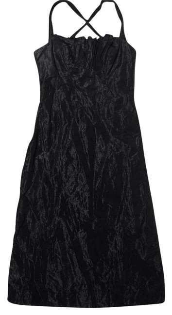 Nicole Miller Holiday Formal Metallic Evening Party Dress