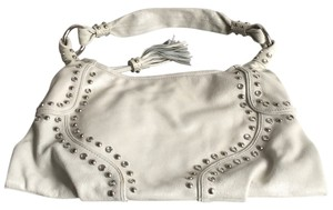 Via Spiga Studded Crystals Hardware Hobo Bag
