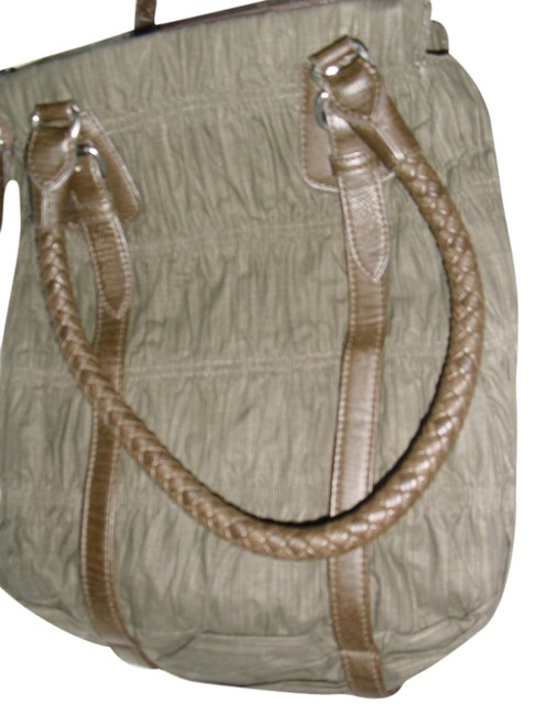 Item - Max Azria Pleated Carrefour France Ruched Faux Straps Khaki Synthetic Leather Shoulder Bag