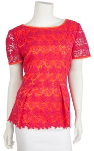 Elie Tahari Top Orange & Pink