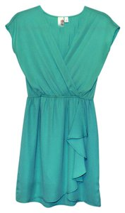 Francesca's short dress Teal Ruffle Green Spring on Tradesy