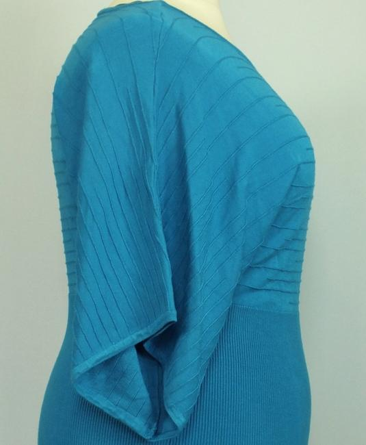 Style & Co Plus-size Dolman Sleeves Knit Top Blue