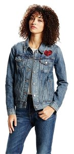 Levi's Boyfriend Denim Patched Womens Jean Jacket