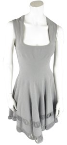 ALAÏA short dress Gray Cut-out Midi Fall Spring on Tradesy