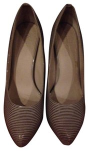 Colin Stuart Wrap 1 Inch Platform In The Front Nude Pumps