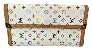 Louis Vuitton Authentic Louis Vuitton Multicolored Tri-Fold Long Wallet
