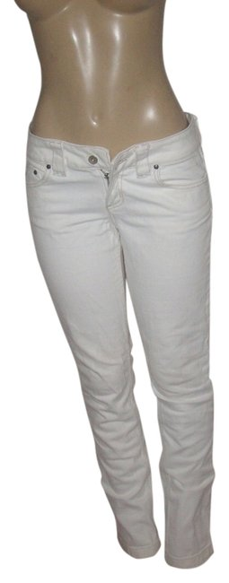 Item - White Coated Stretch Cotton Capri Skinny Jeans Size 32 (8, M)
