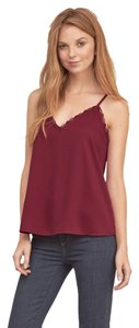 Abercrombie & Fitch Lace Romantic Layer Top Burgundy