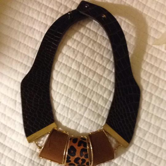 Other Gorgeous Leather And Suede Gold Bib Necklace