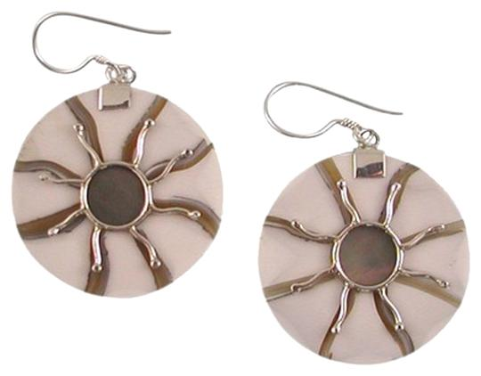 Island Silversmith Island Silversmith Tropical White Shell 925 Sterling Silver Earrings 0101Z *FREE SHIPPING*