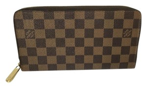 Louis Vuitton Louis Vuitton Zippy Organizer Wallet with DustBag Damier Ebene