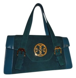 Tory Burch Gold Logo Shoulder Bag