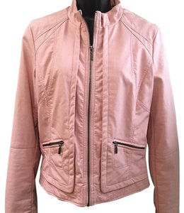 a.n.a. a new approach Zipper Front Pink Leather Jacket