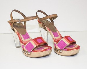Prada Strappy Multi-Color Pumps