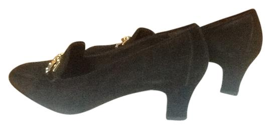 Bruno Magli Black Suede Pumps