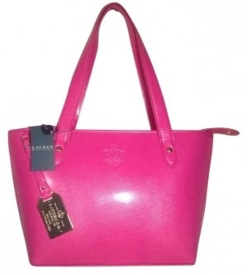 Preload https://item3.tradesy.com/images/ralph-lauren-genuine-newton-shopper-hot-pink-leather-tote-145292-0-0.jpg?width=440&height=440