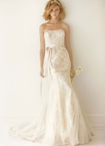 Melissa Sweet Melissa Sweet Lace Wedding Dress With Ruffle Train Wedding Dress