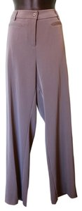 Chico's Polyester Spandex Trouser Pants Gray