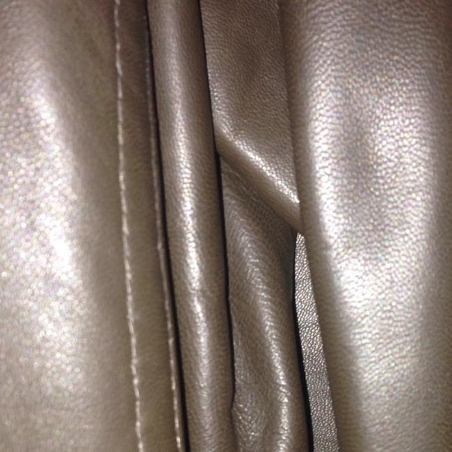 DKNY Zip Lambskin Moto Chocolate brown Leather Jacket Image 6