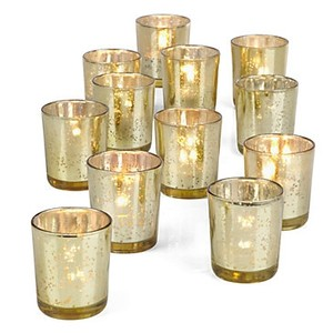 Z Gallerie Gold Mercury Glass Votive/Candle