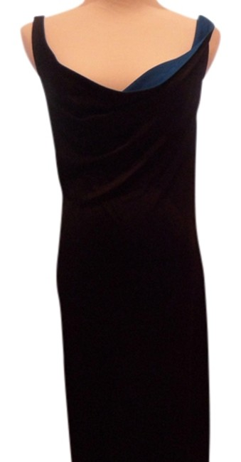 Item - Black with Blue Classic V2 Long Night Out Dress Size 8 (M)