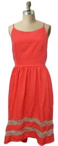Audrey 3+1 short dress Coral Prairie Lace on Tradesy