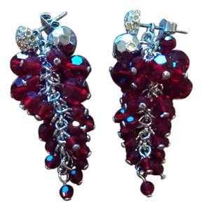 Swarovski Swarovski red stone earrings