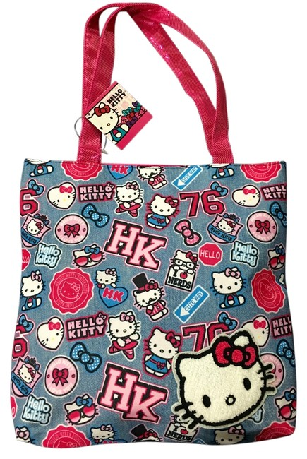Item - Bag Blue with Pink Polyester Tote
