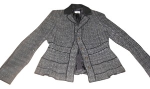 Philosophy di Alberta Ferretti Black Gray Gold Blazer