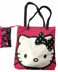 Hello Kitty Sunglasses Pink Tote in Pink/White/Polka Dots