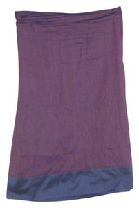 Calypso Wrap Colorblock Skirt Purple