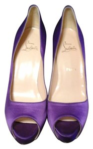 Christian Louboutin Satin Never Worn Violet Pumps