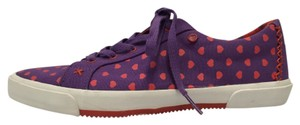 UGG Australia Lace Up Heart Print Sheepskin Purple Athletic