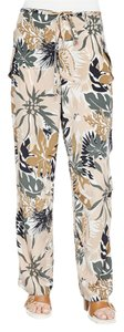 Rag & Bone Wide Leg Silk Beach Workwear Relaxed Pants Spruce Combo