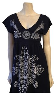 Laclass short dress Navy blue and white Summer Beach on Tradesy